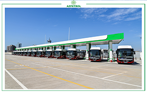 """Azpetrol"" launched the ""BakuBus"" CNG (compressed natural gas) terminal"