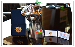 Jeyhun Mammadov, General director of Azpetrol, was awarded the 115th anniversary badge for his services to the trade union movement.
